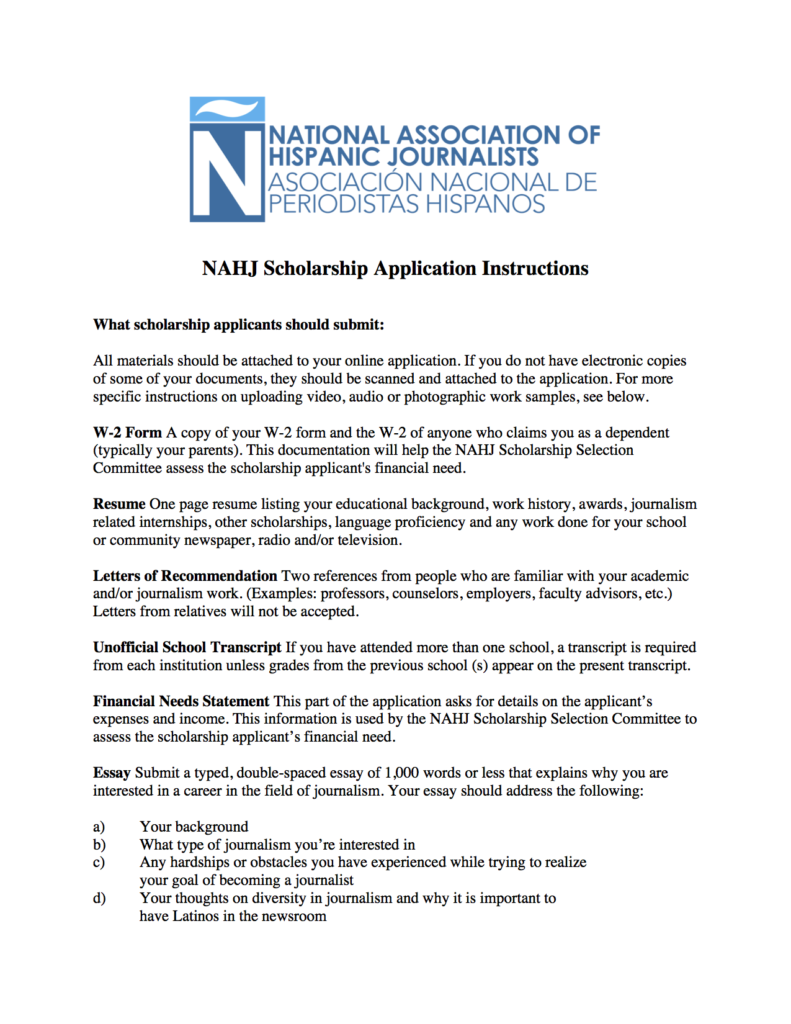 nahj scholarship details nahj 2017 final nahj scholarship instructions copy