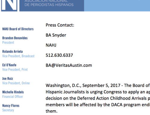 The Board of Directors of the National Association of Hispanic Journalists is calling on congress for DACA Solution.