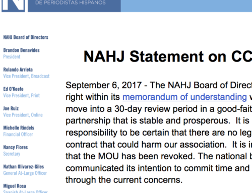 NAHJ Statement on CCNMA